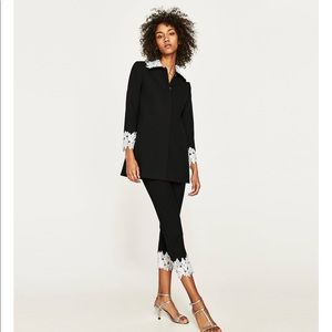 Black Long blazer from Zara